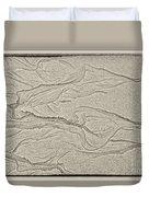 Ocean Sand Art Hearts Left Side Duvet Cover