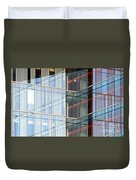 Office Building Windows Duvet Cover