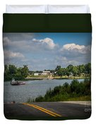 Ohio River At Cave In Rock Illinois Duvet Cover