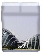 Oil Painting - Both Of The Conservatories Of The Gardens By The Bay In Singapore Duvet Cover