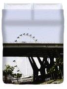 Oil Painting - Span Of The Benjamin Sheares Bridge With Its Pillars In Singapor Duvet Cover