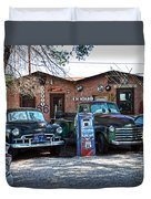 Old Cars On Route 66 Duvet Cover