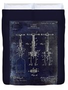 1898  Corkscrew Patent Drawing Duvet Cover