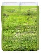 Old Green Grass Duvet Cover