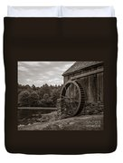 Old Grist Mill Vermont Duvet Cover by Edward Fielding