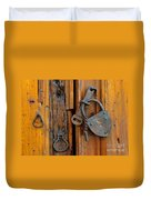 Old Lock, Mexico Duvet Cover