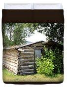 Old Log Homestead Duvet Cover