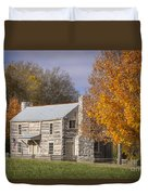 Old Log House Duvet Cover
