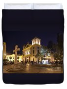Old Portuguese Colonial Church In Macau Macao China Duvet Cover