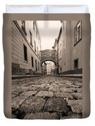 Old Street In Prague Duvet Cover