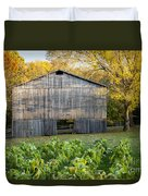 Old Tobacco Barn Duvet Cover by Brian Jannsen