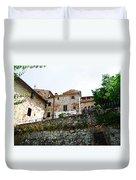 Old Towns Of Tuscany San Gimignano Italy Duvet Cover