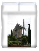 Old Provencal Windmill Duvet Cover