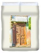 Old Wooden Door Duvet Cover