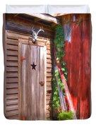 Old Wooden Door Duvet Cover