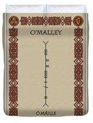 O'malley Written In Ogham Duvet Cover