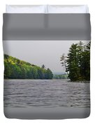 On The Delaware River Duvet Cover