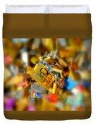 One Life One Love Padlock Duvet Cover