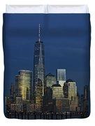 One World Trade Center At Twilight Duvet Cover