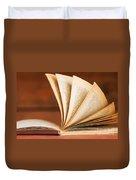 Open Book In Retro Style Duvet Cover by Michal Bednarek