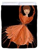 1 Orange Ballerina Duvet Cover