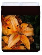 Orange Lilies Duvet Cover