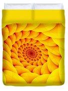 Yellow Pillow Vortex Duvet Cover