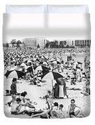Orchard Beach In The Bronx Duvet Cover
