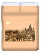 Orchha's Palace - India Duvet Cover