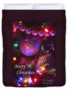 Ornaments-2160-merrychristmas Duvet Cover