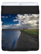 Osar Beach Iceland Duvet Cover