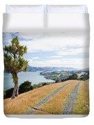 Otago Peninsula Coastal Landscape Dunedin Nz Duvet Cover