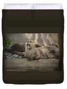 Otter North American  Duvet Cover