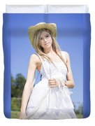 Outback Country Girl Duvet Cover
