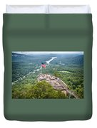 Overlooking Chimney Rock And Lake Lure Duvet Cover