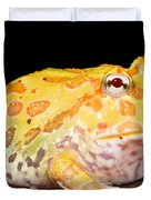 Pac Man Frog Ceratophrys Duvet Cover