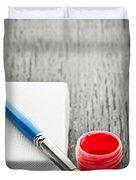 Paintbrush On Canvas Duvet Cover