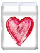 Painted Heart - Symbol Of Love Duvet Cover