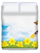Painting Daffodils Duvet Cover