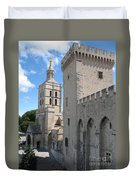 Palace Of The Pope - Avignon Duvet Cover