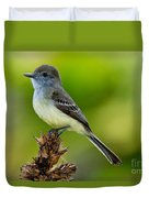 Pale-edged Flycatcher Duvet Cover