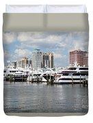 Palm Beach Docks Duvet Cover