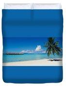Palm Tree On The Beach, Moana Beach Duvet Cover
