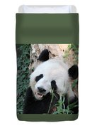Panda Eating Duvet Cover