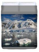 Paradise Bay, Antarctica Duvet Cover