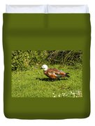Female Paradise Duck Duvet Cover