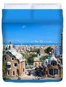 Park Guell In Barcelona Duvet Cover