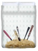 Pasta For Five Duvet Cover by Joana Kruse