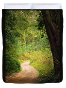 Pathway In The Woods Duvet Cover