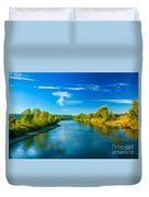 Peaceful Payette River Duvet Cover